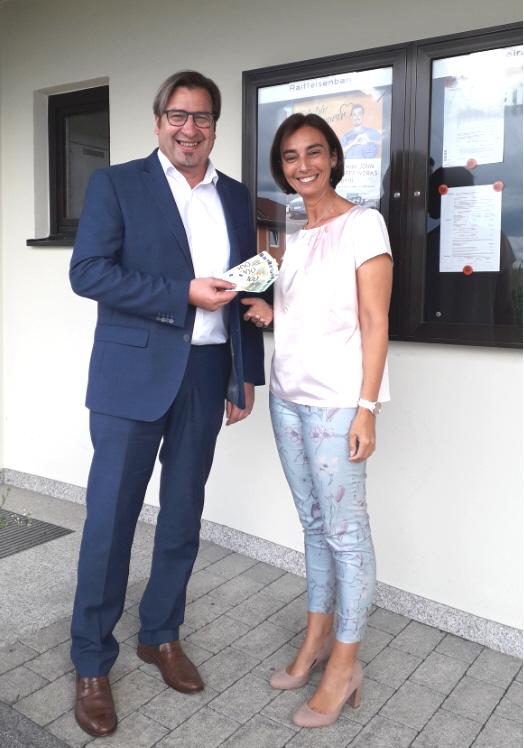 500 Euro Gewinnerin beim Gewinnsparen im August 2021, Sonja Schrollinger.
